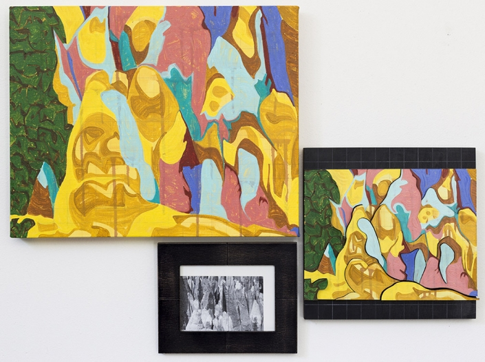 New Mexico artist David Disco: Three Depictions of a Cliff Version 1